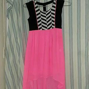 A black and pink child's dress